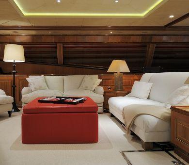 DRUMBEAT Alloy 53m Luxury Sailing Yacht Salon