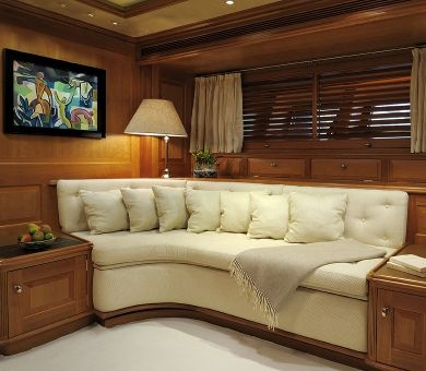 DRUMBEAT Alloy 53m Luxury Sailing Yacht Master Cabin Seating
