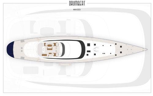 DRUMBEAT Alloy 53m Luxury Sailing Yacht