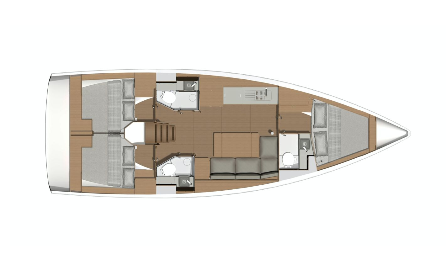 Dufour 390GL Layout