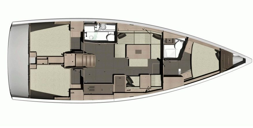 Dufour 412 Boatbookings Layout
