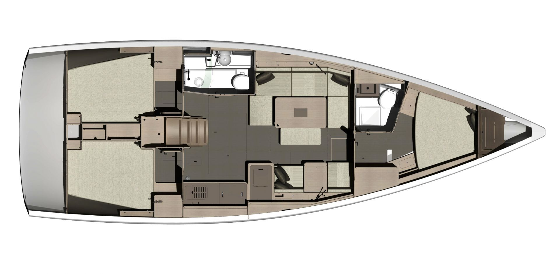 Dufour 412 Layout