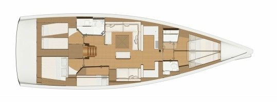 Dufour 520 Layout
