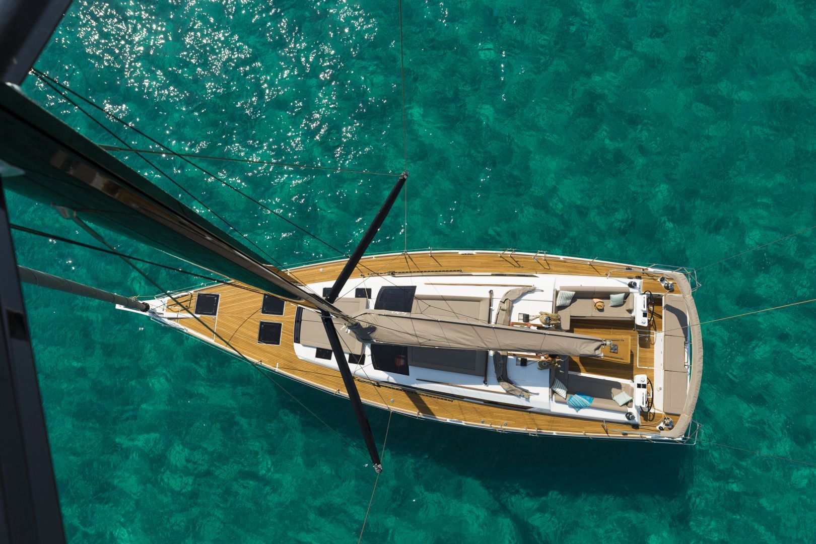 Dufour 520 Aerial View