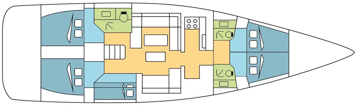 Dufour 520 GL Layout