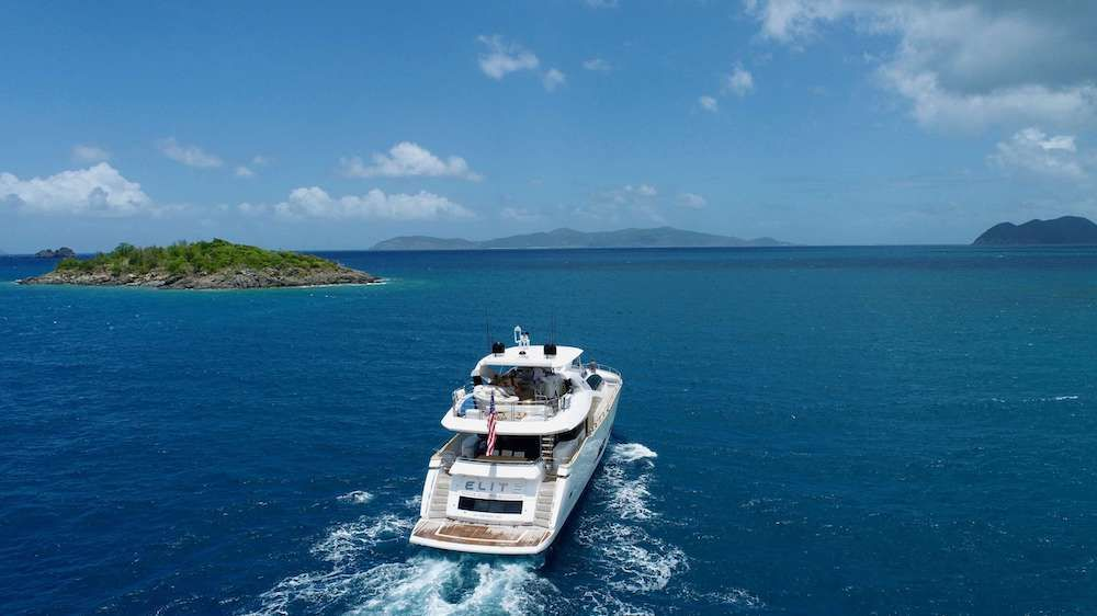 ELITE Sunseeker 92 Cruising Virgin Islands