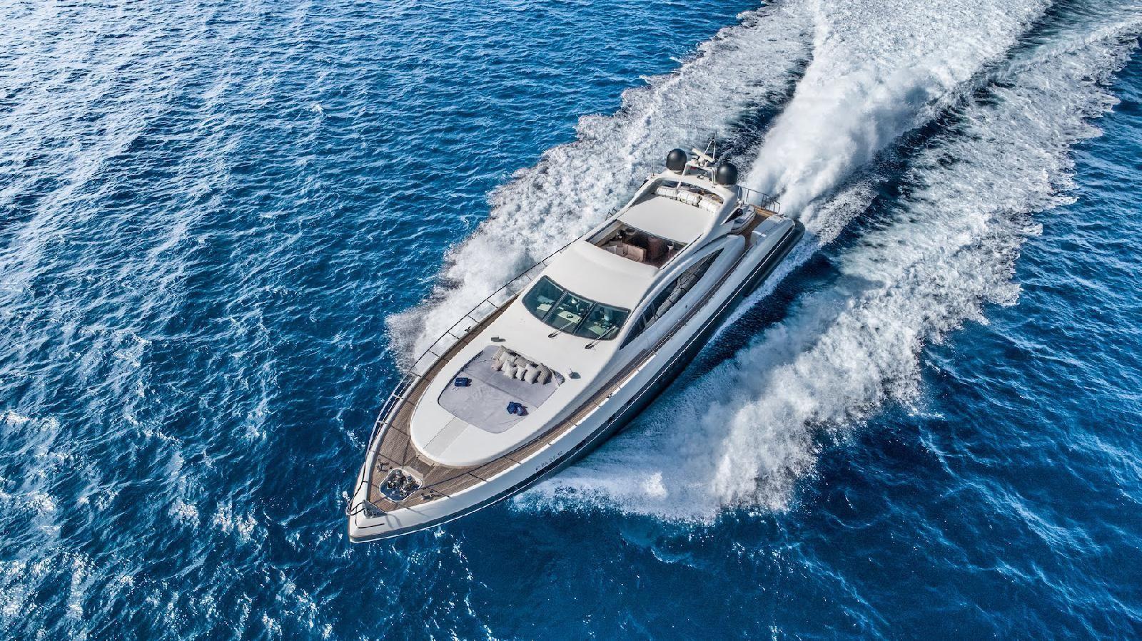 FIVE STARS - Mangusta (Overmarine) 92` - 5 Cabins - Ibiza - Formentera - Palma - Barcelona
