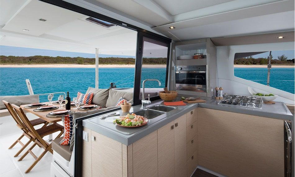 Fountaine Pajot Lucia 40 Kitchen and Dinning