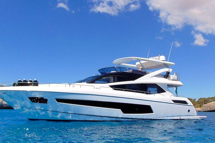 Charter Yacht GLASAX - Sunseeker 75 Yacht - 4 Cabins - Lefkada - Corfu - Zakynthos - Kefalonia
