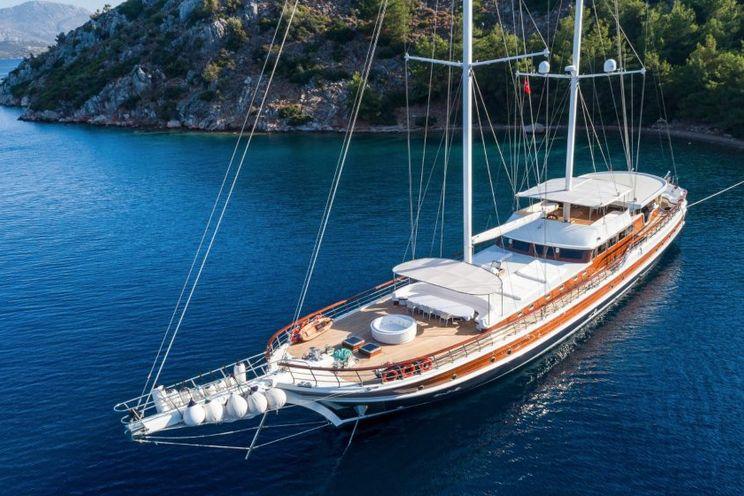 Charter Yacht HALCON DEL MAR - 45m Gulet - 8 Cabins - Athens - Mykonos - Bodrum - Gocek - Turkey