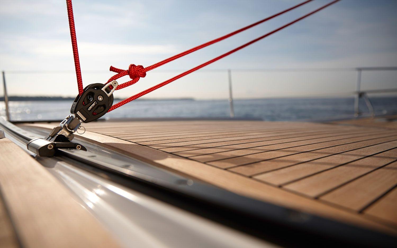 Hanse 455 traveling rigging