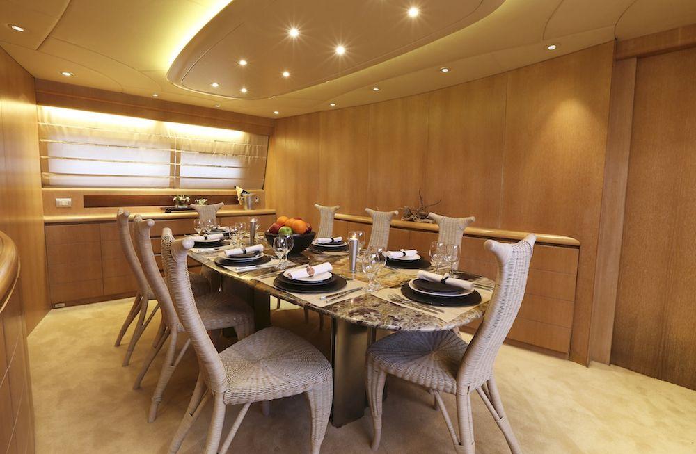 Maiora Motor Yacht IF Dining Room