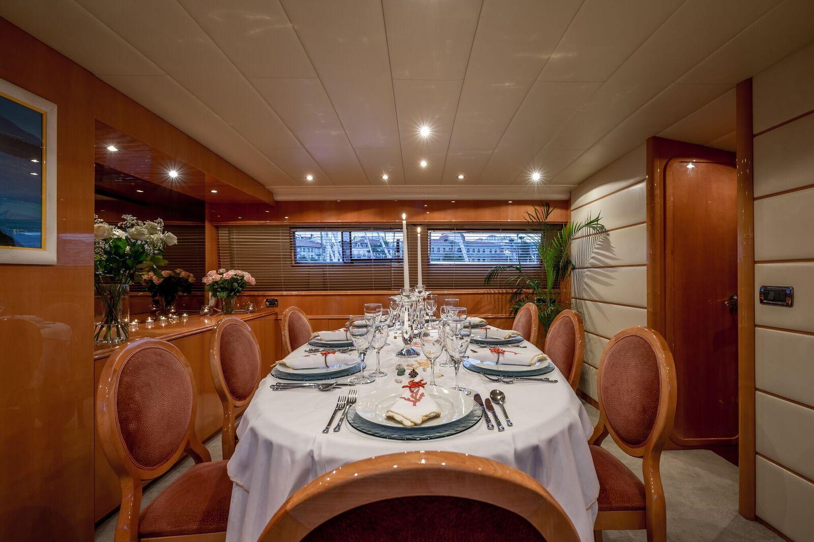 INDULGENCE OF POOLE Mangusta 86 Luxury Superyacht Dining Table