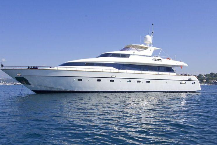 Charter Yacht INDULGENCE OF POOLE - Mangusta 86 - 4 Cabins - Monaco - Cannes - St Tropez - Portofino - Sanremo - Cinque Terre