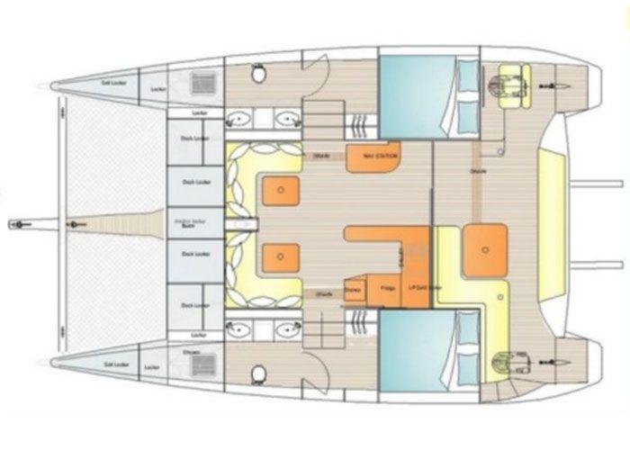 Island Spirit 38 - Layout Plan