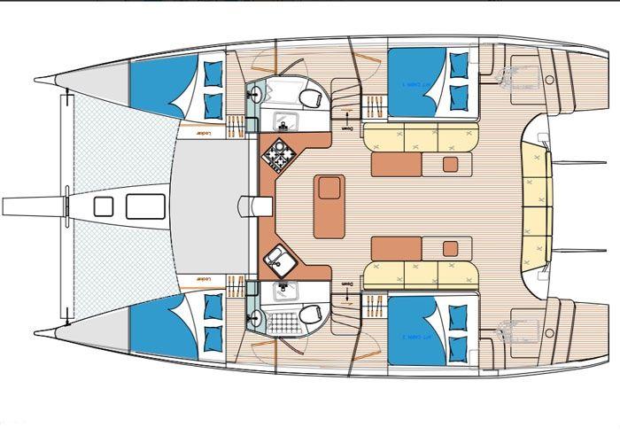 Island Spirit 410 - Layout