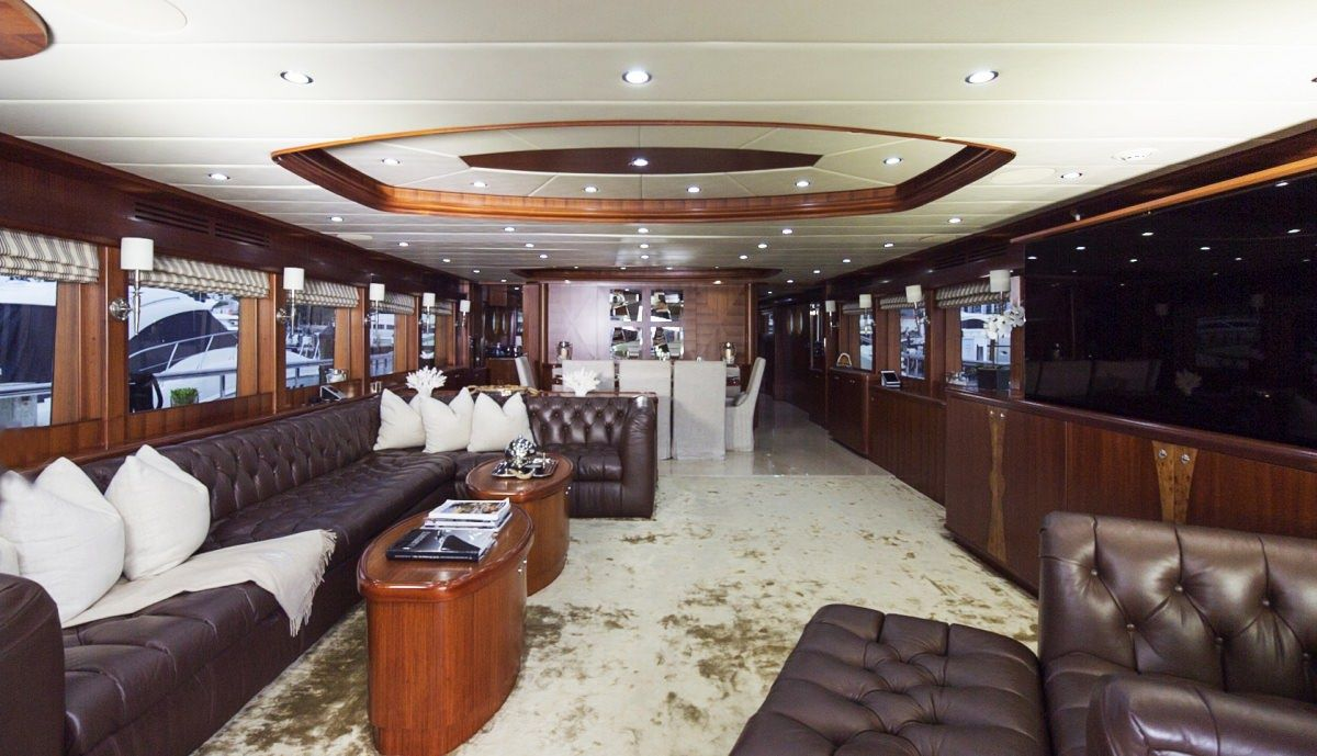 Miami Day Charter Yacht JULIA DOROTHY Johnson 103 Main Salon