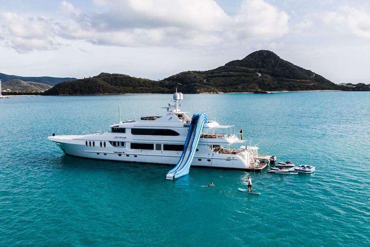 Charter Yacht JUST ENOUGH - Custom 140 - 5 Staterooms - Bahamas - Tortola - St. Maarten - Nassau - Georgetown - Paradise Island