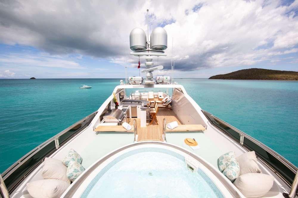 JUST ENOUGH Motor Yacht Sun Deck
