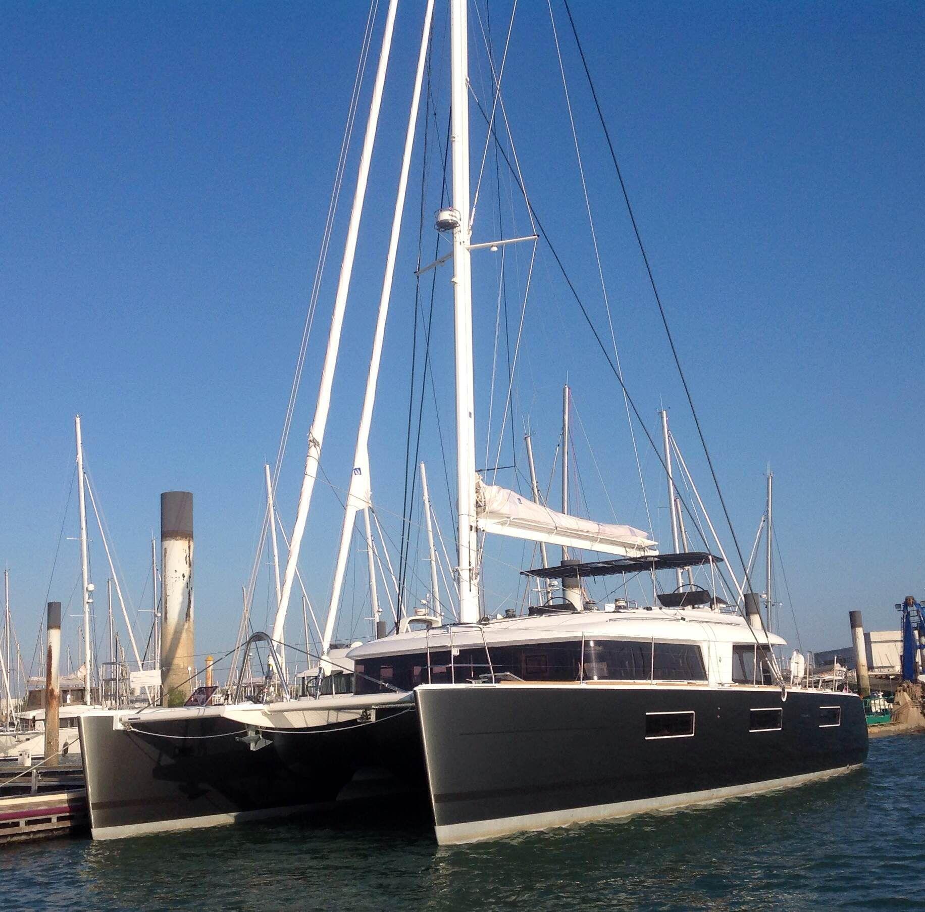 KASKAZI FOUR Lagoon 620 Luxury Catamaran Moored