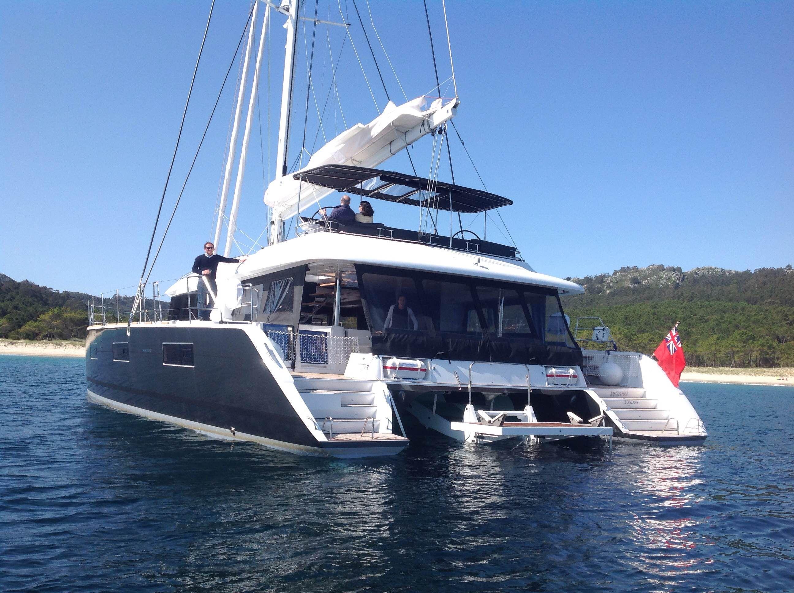 KASKAZI FOUR Lagoon 620 Luxury Catamaran Rear View