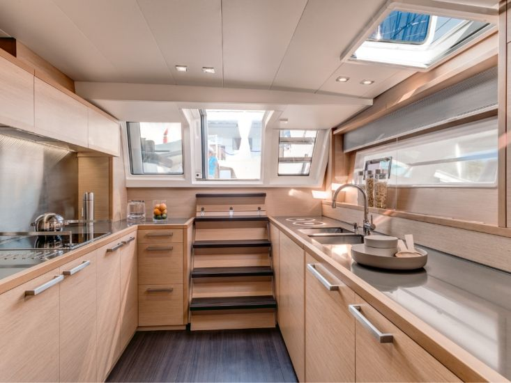 KASKAZI FOUR Lagoon 620 Luxury Catamaran Galley