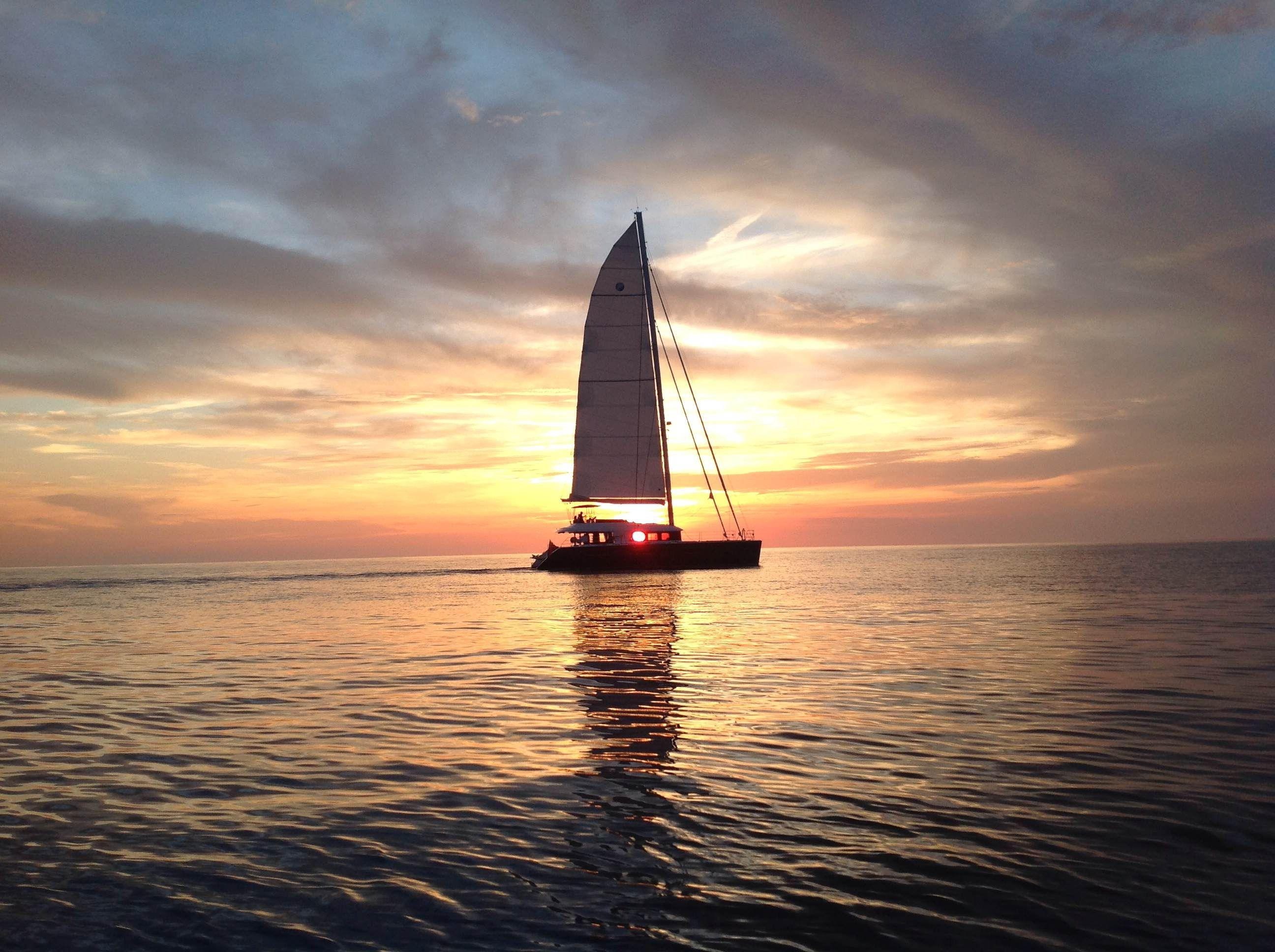 KASKAZI FOUR Lagoon 620 Luxury Catamaran Sunset
