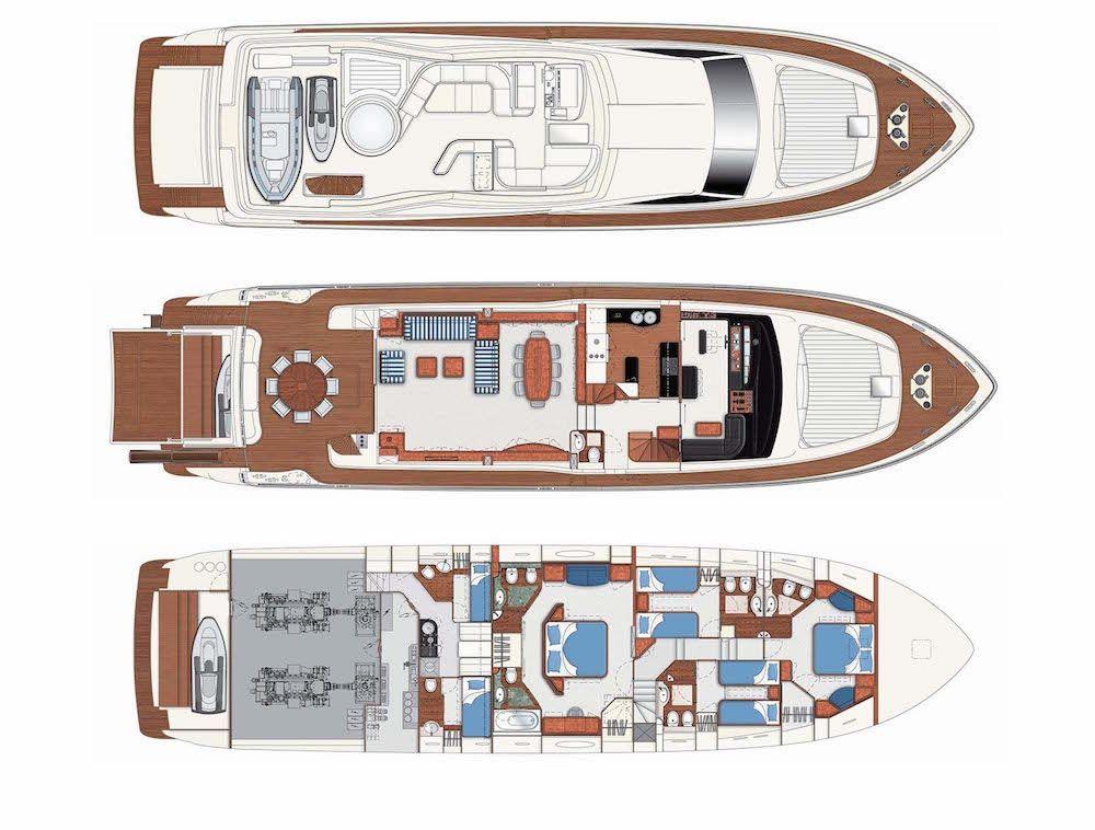 Luxury Crewed Motor Yacht KATARIINA in Split - Layout