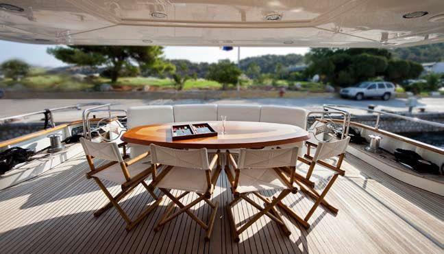 LADY P - Crewed Motor Yacht - Aft Dining