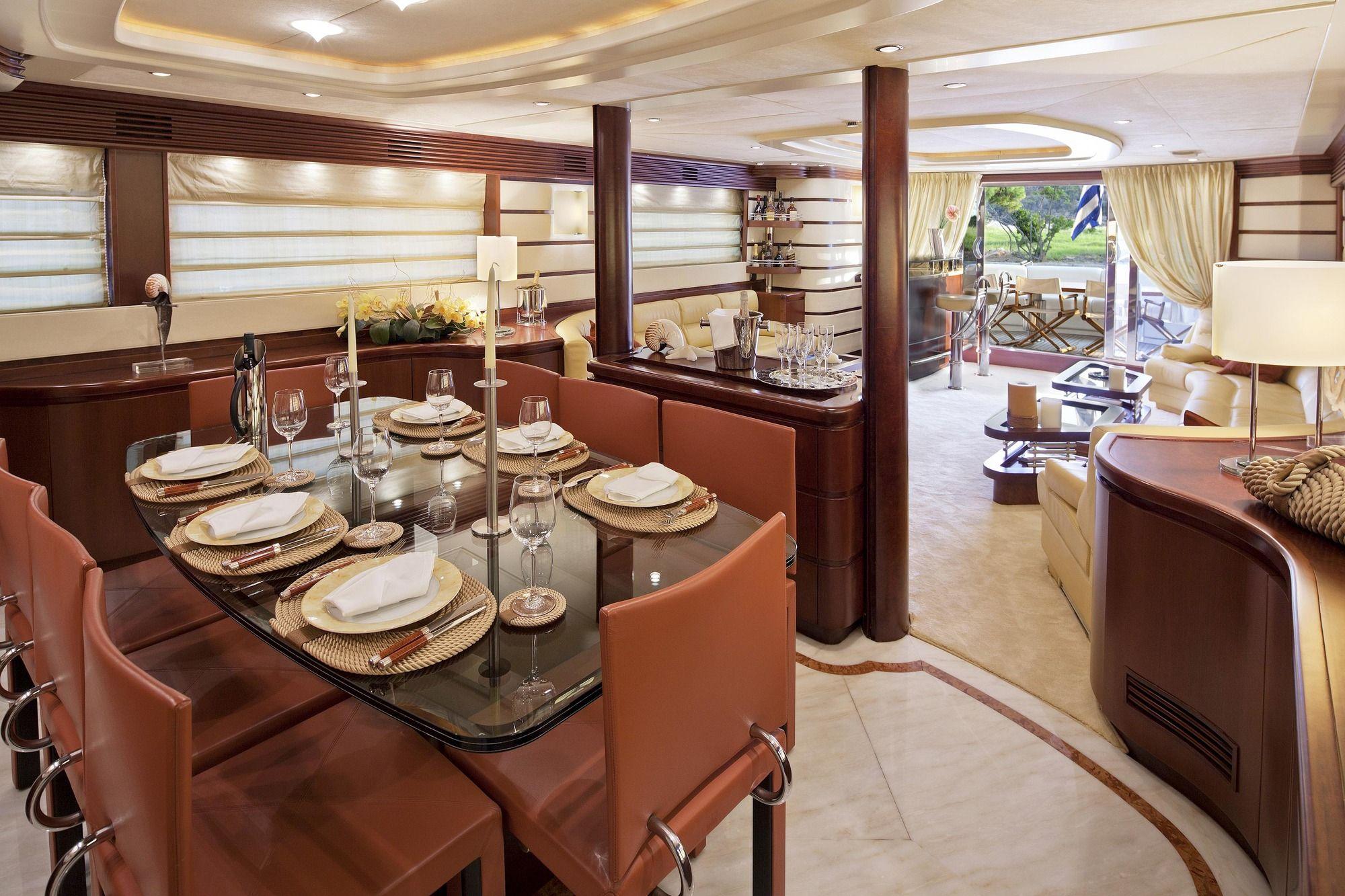 LADY P - Crewed Motor Yacht - Dining