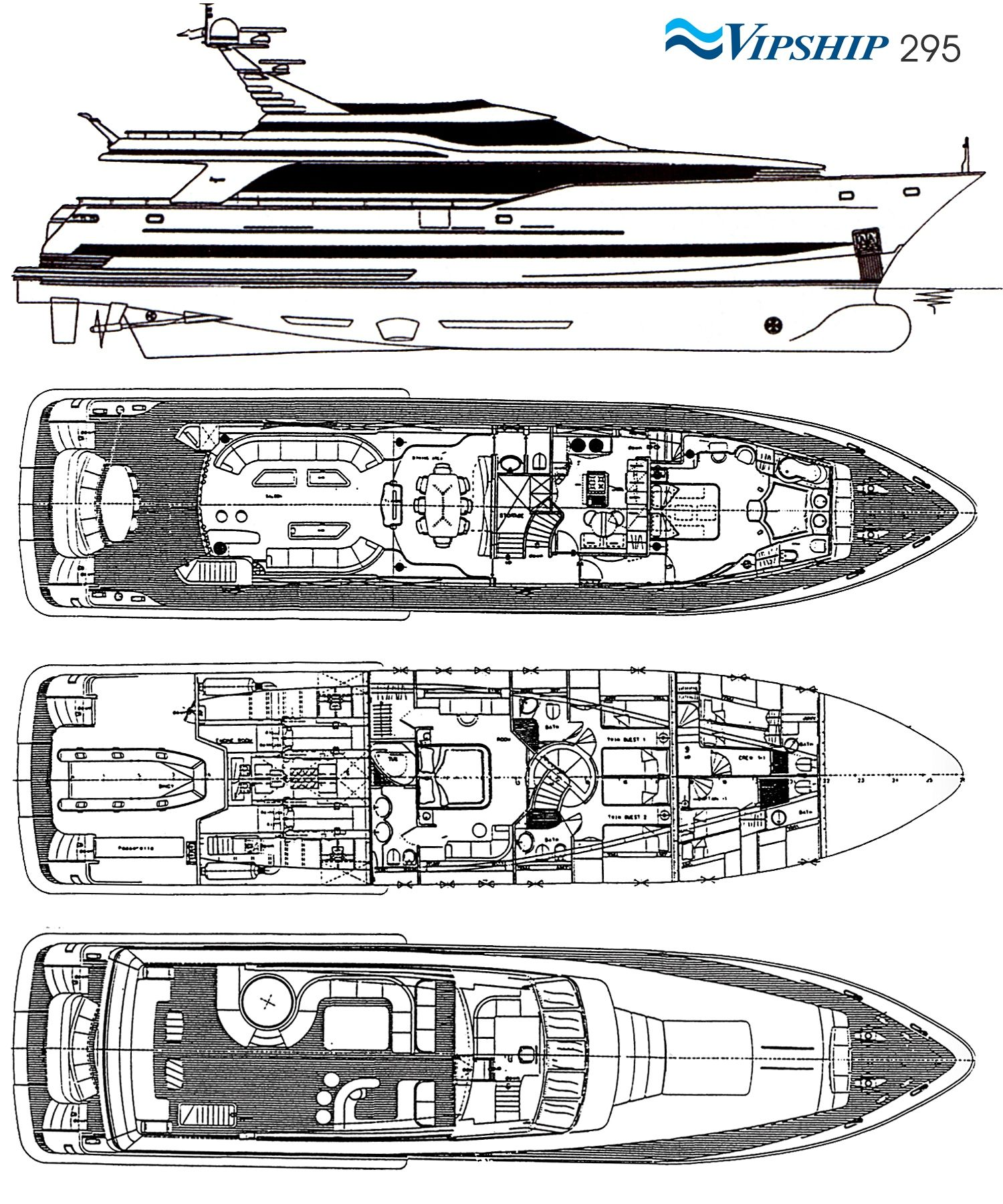 LADY P - Crewed Motor Yacht - Layout
