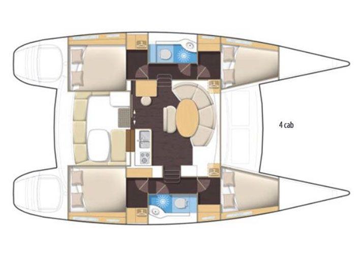 Lagoon 380 - Layout Plan