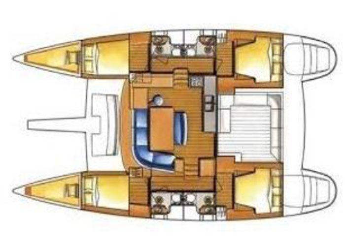 Lagoon 400 S2 - Layout