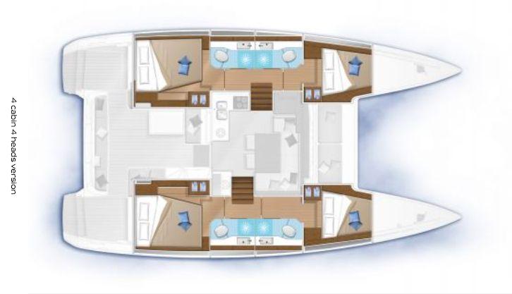 Lagoon 40 - Layout Interior