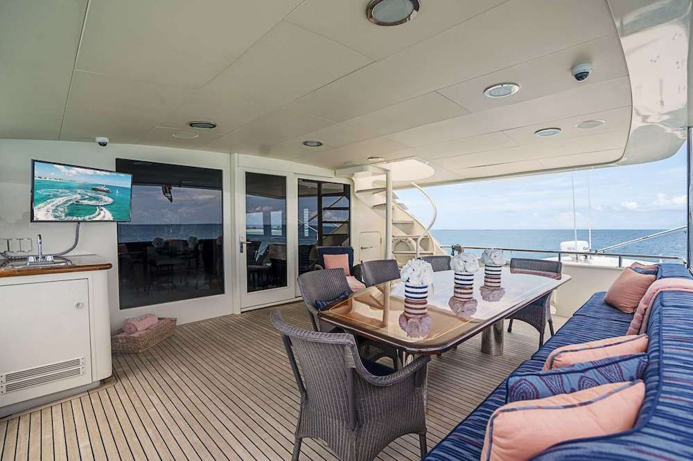 LEGACY Motor Yacht Aft Deck