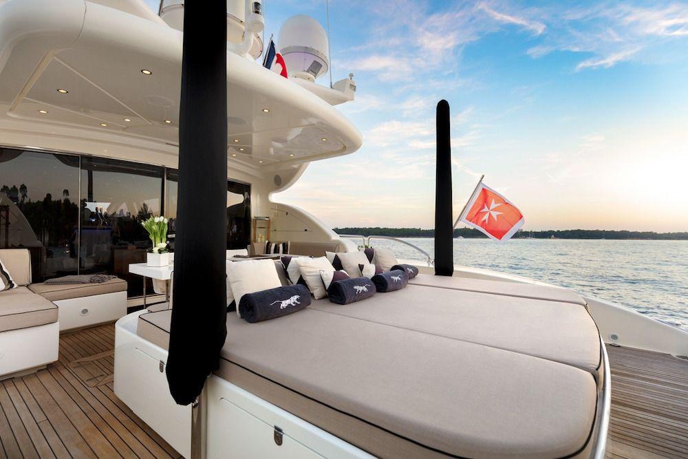 Leopard 34m Motor Yacht Sunbathing