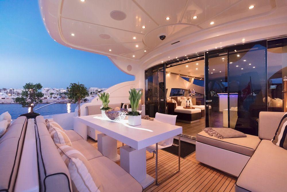 Leopard 34m Motor Yacht Aft Dining