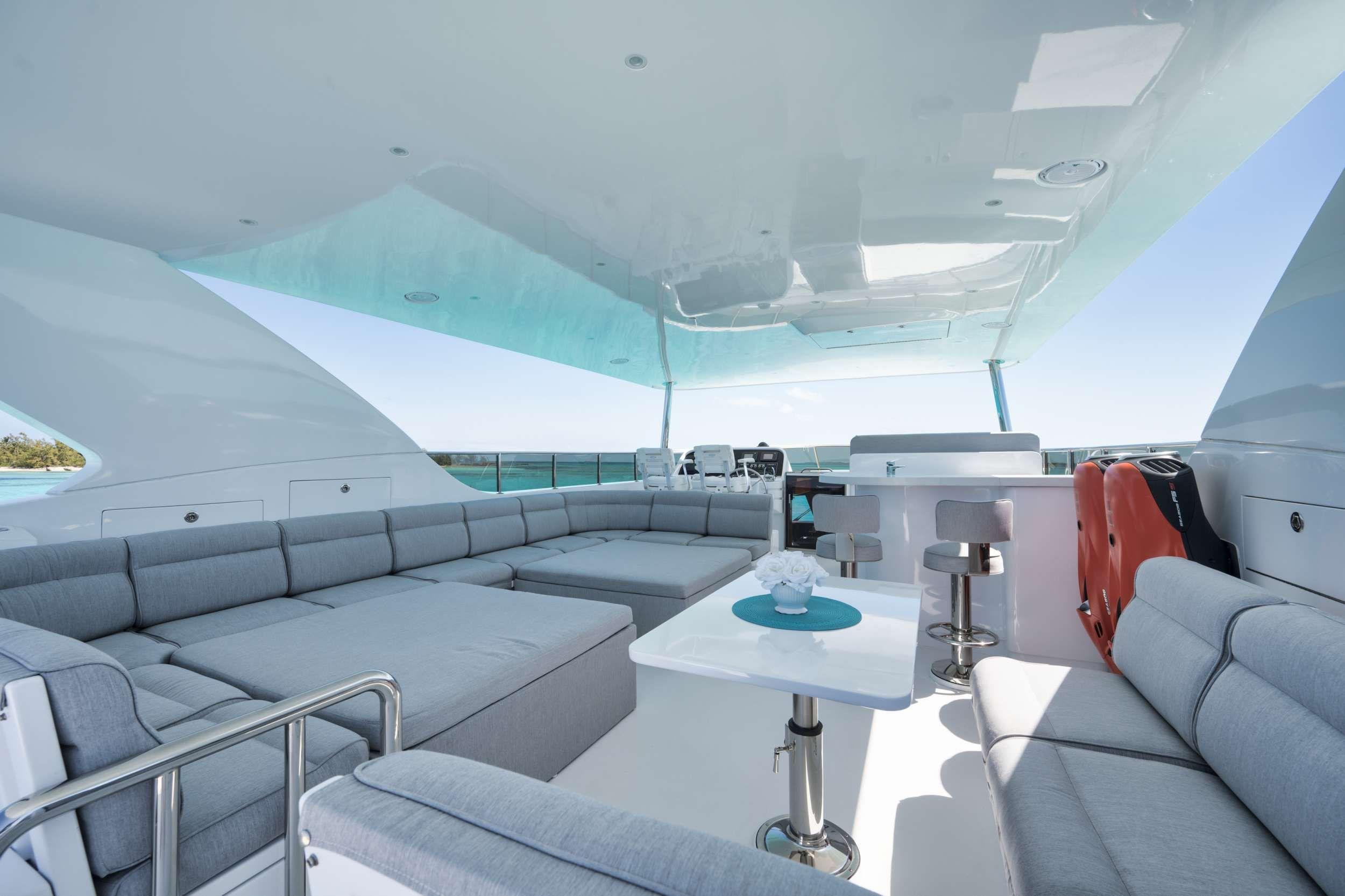 LIMITLESS Crewed Motor Yacht Flybridge