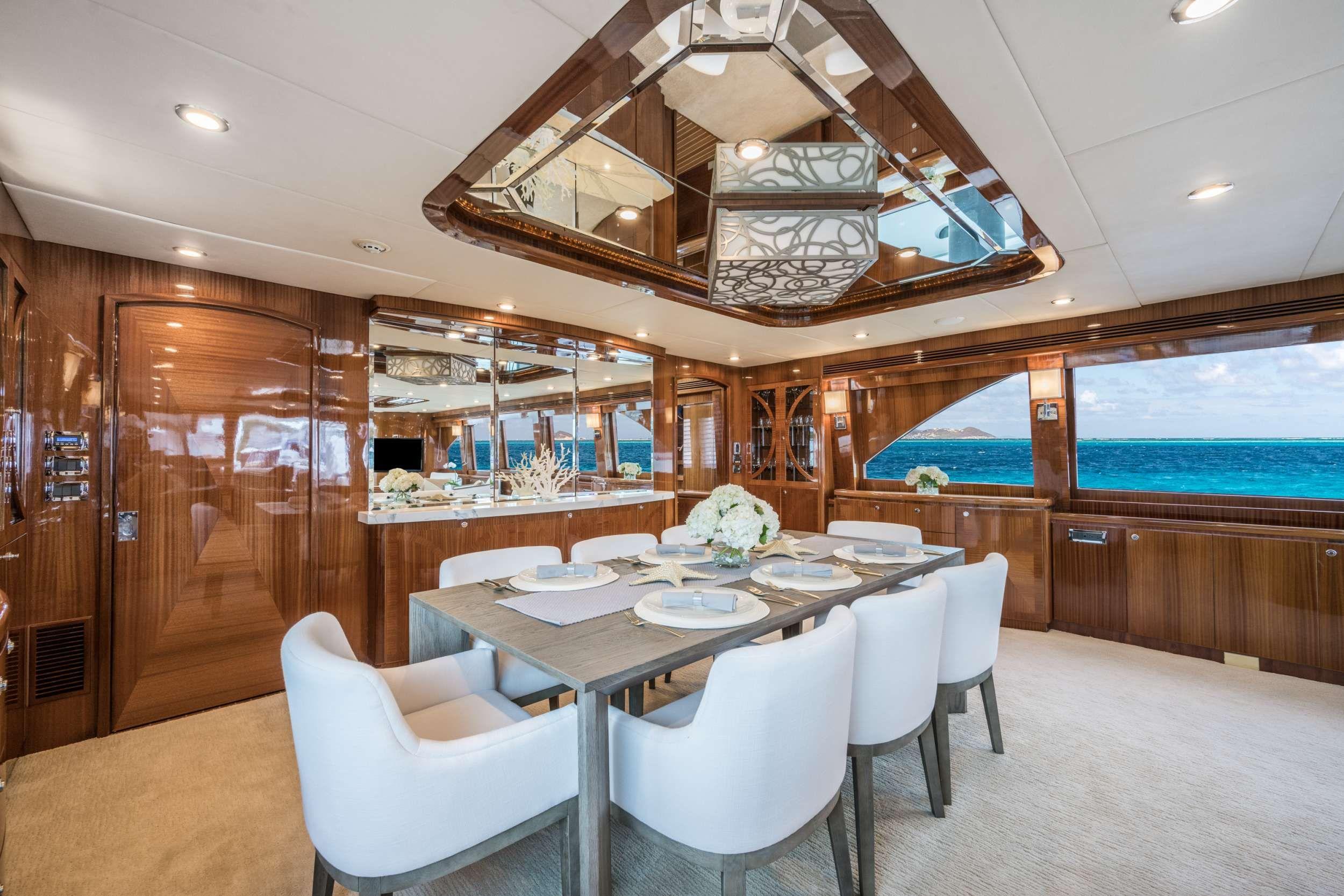 LIMITLESS Crewed Motor Yacht Dining