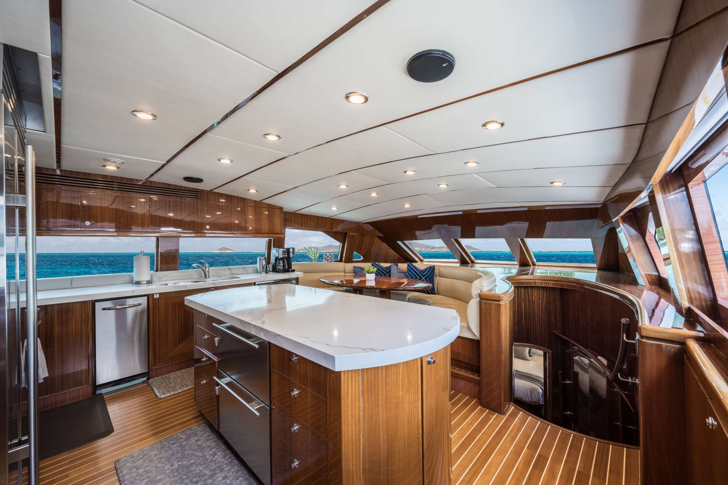LIMITLESS Crewed Motor Yacht Galley