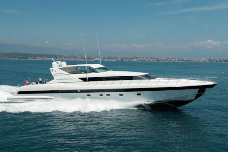 Charter Yacht MACH ONE - Mangusta 105 - 4 Cabins - Cannes - Antibes - Nice - Villefranche - Monaco