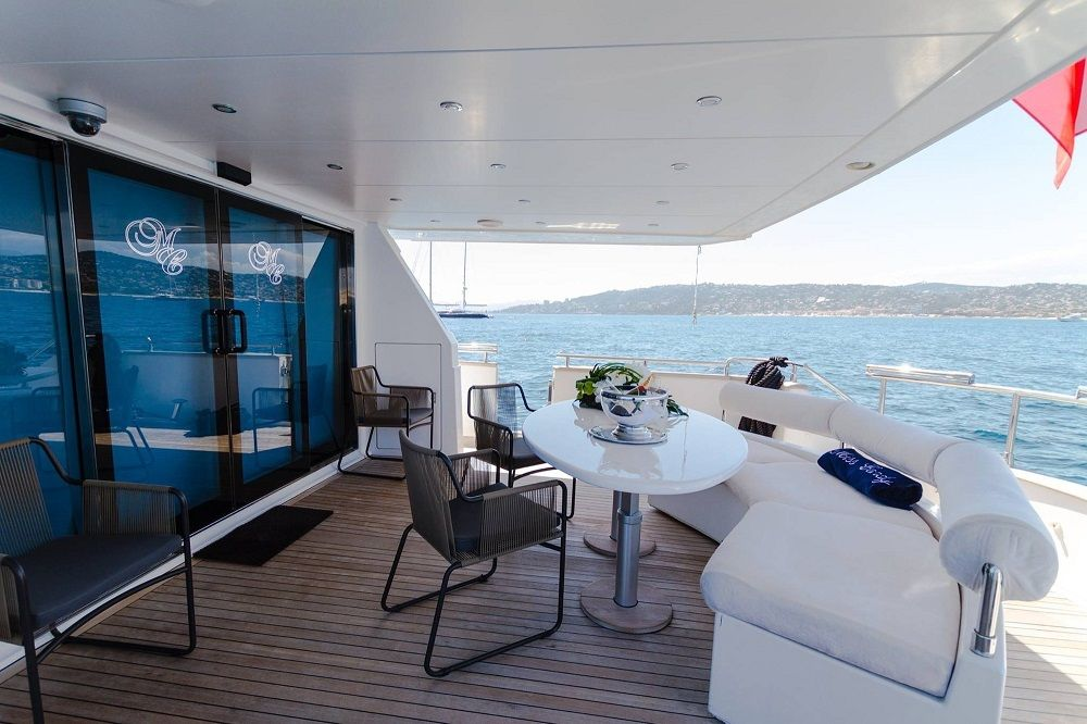 MISS CANDY - Crewed Motor Yacht - Aft Deck