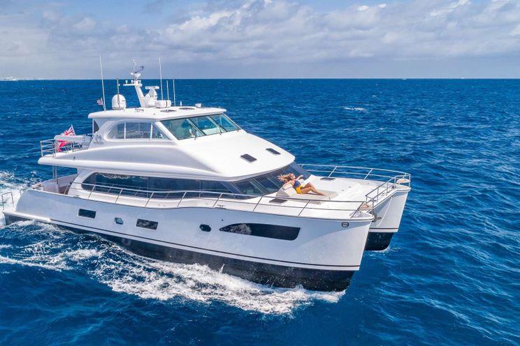 Charter Yacht MUCHO GUSTO - Horizon 65 Power Cat - 3 Cabins - St Thomas - Tortola - Virgin Gorda