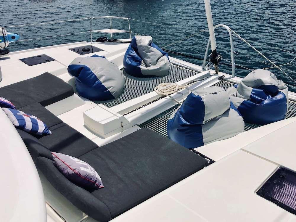 NAUTI CAT Lagoon 50 Bow Relaxation