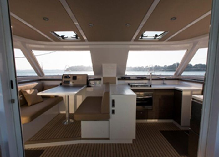 Nautitech Open 40 - Galley and Saloon