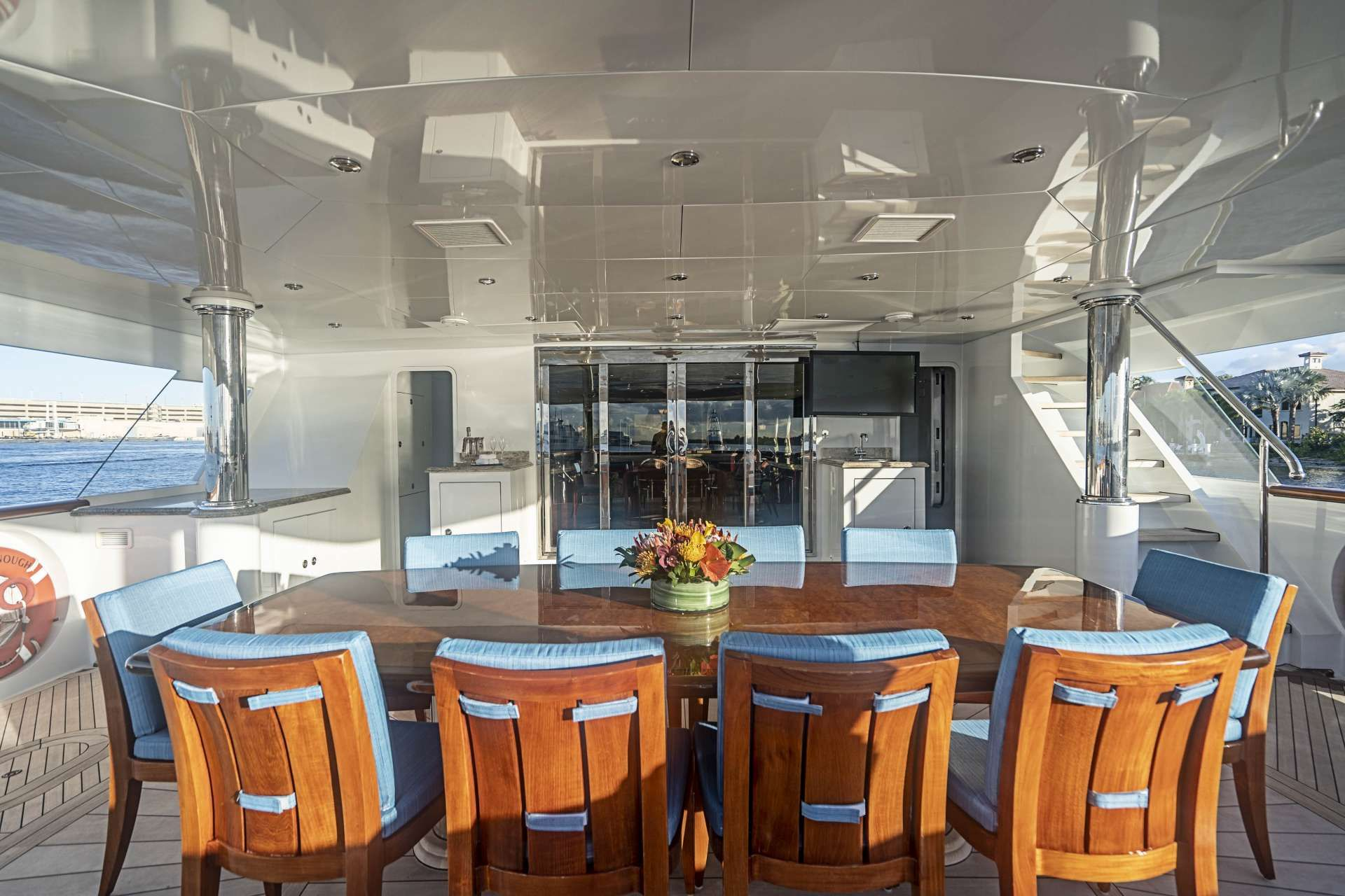 NEVER ENOUGH Aft Deck Dining