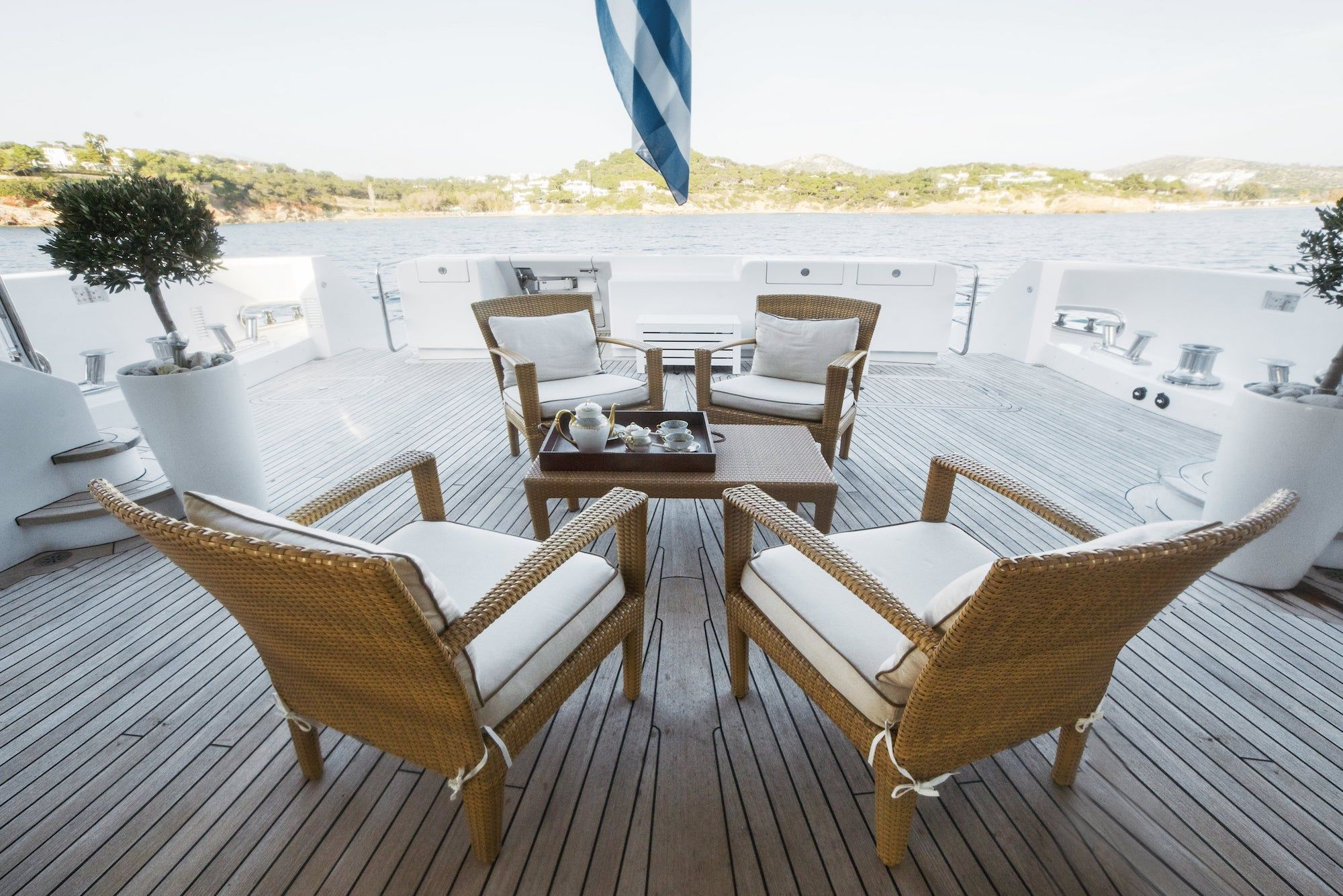 ISA Motor Yacht OASIS Aft Deck