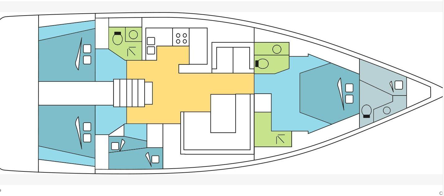 Oceanis 62-Layout