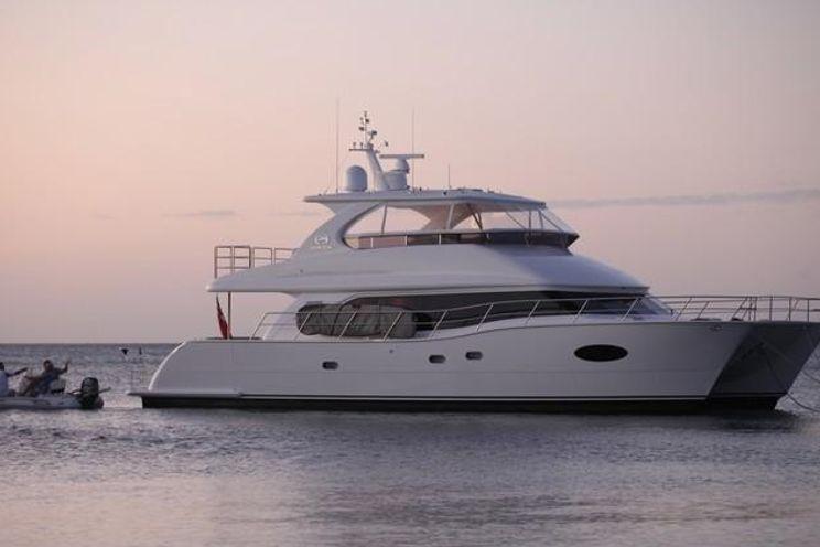 Charter Yacht OHANA - Horizon 60 Power Cat - 3 Cabins - Bahamas - Nassau  - BVIs - Tortola