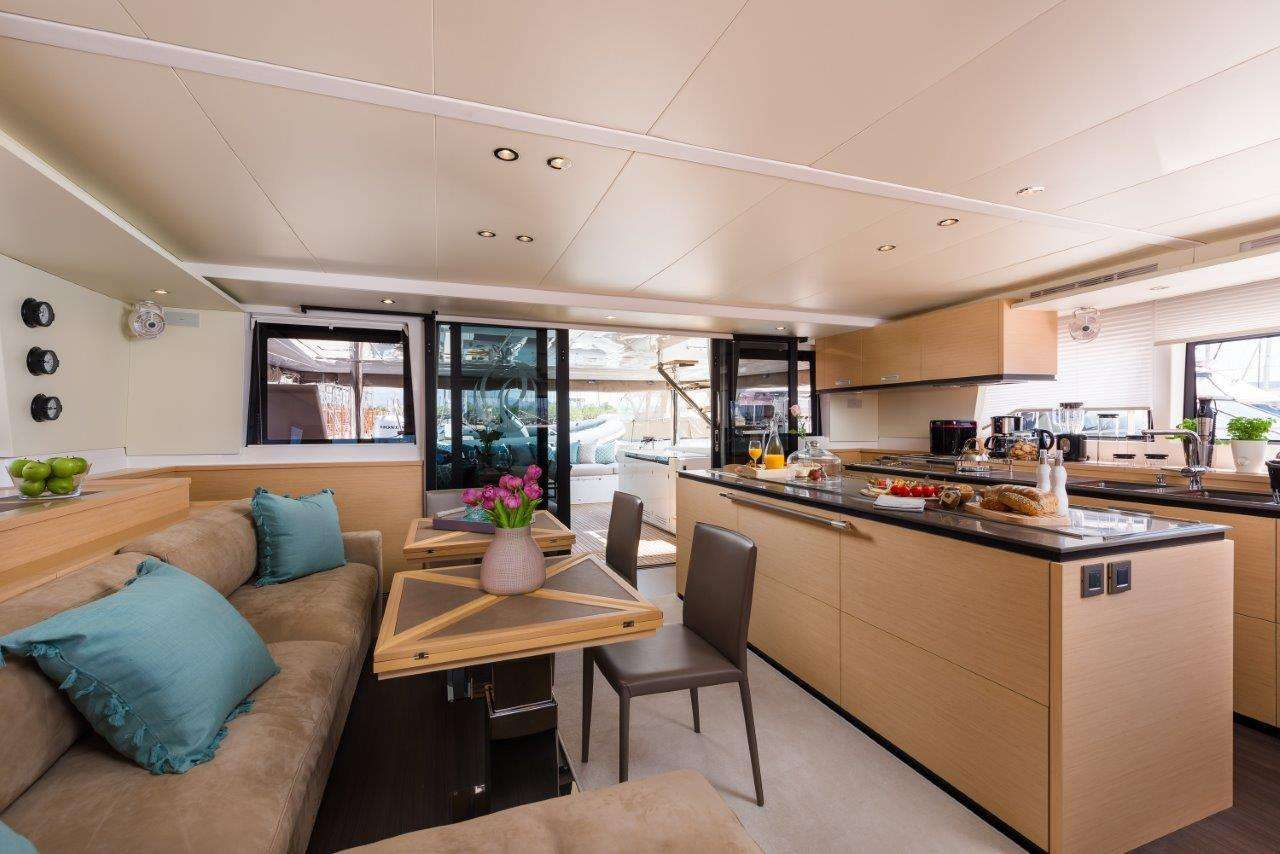 OPAL Lagoon 620 Luxury Catamaran Saloon